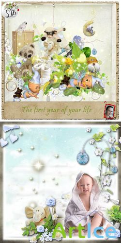Scrap Set - The First Year of Your Life PNG and JPG Files