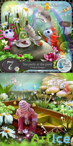 Scrap Set - Tea Party at The Pond PNG and JPG Files