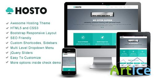 ThemeForest - Hosto - Bootstrap Responsive HTML Template - RIP