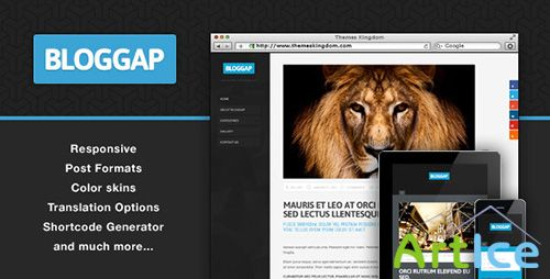 ThemeForest - Bloggap v1.6 - Responsive Blog WordPress Theme