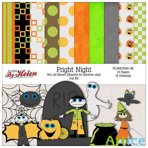Scrap Set - Fright Night PNG and JPG Files