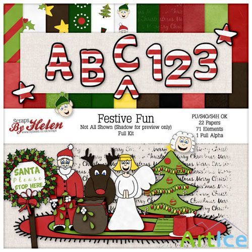 Scrap Set - Festive Fun PNG and JPG Files