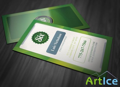 Colorful Vertical Business Card