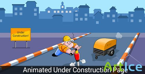 ThemeForest - Digger Man - Animated Understruction Page - RIP