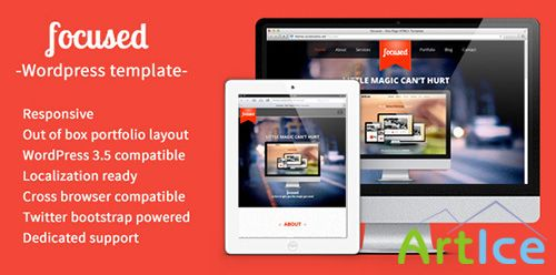 ThemeForest - focused v1.0 - One Page HTML5 Responsive WordPress Them - FULL