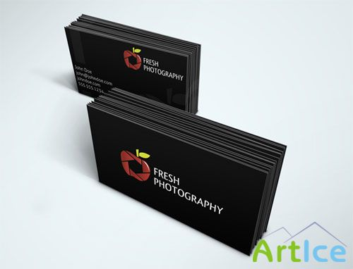 Fresh Photography Business Card PSD Template