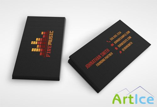 Fire Music Business Card PDS Template