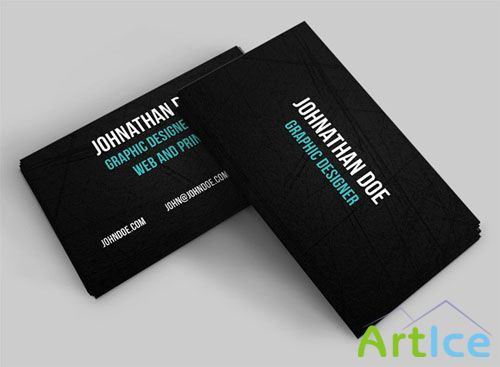 Scratched Business Card PSD Template