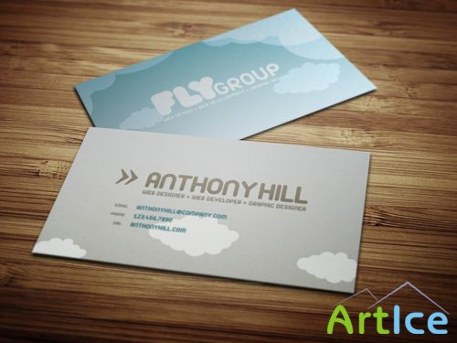 Stylish Business Card PSD Template