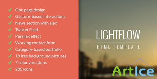 ThemeForest - Lightflow - Responsive One Page Parallax Template - RIP