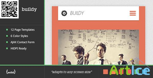 ThemeForest - buildy | Mobile HTML/Css Portfolio Template - RIP
