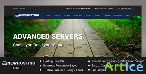 ThemeForest - NewHosting - Responsive Hosting HTML Template - RIP