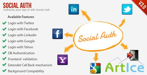 CodeCanyon - SocialAuth-Facebook+Twitter+Linkedin+Google Login v3.0.2