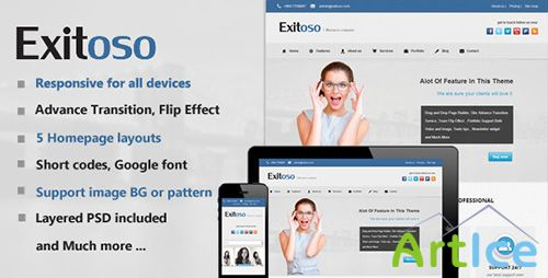 ThemeForest - Exitoso Multi-Purpose HTML Template - RIP