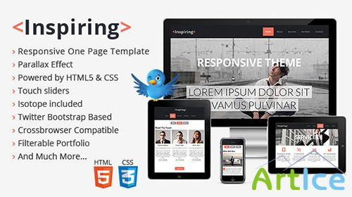 Mojo-Themes - Inspiring Responsive One Page Template - RIP