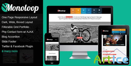 ThemeForest - Monoloop - Responsive One Page HTML5 Template - RIP