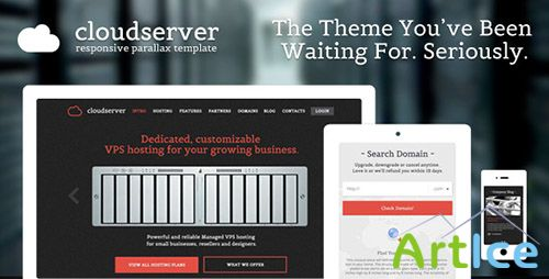 ThemeForest - CloudServer - One Page Responsive Hosting Template - RIP