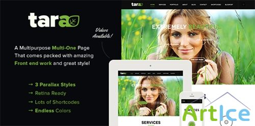 ThemeForest - Tara - Parallax Multipurpose Multi-One Page - RIP