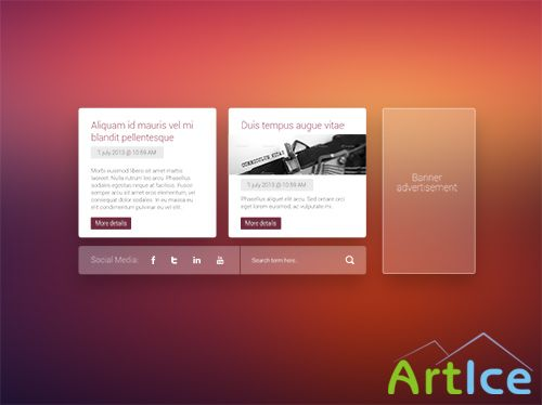 PSD Web Design - Metro Style Content