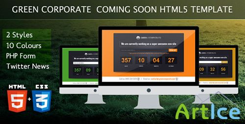 ThemeForest - Green Corporate Under Construction Template - FULL
