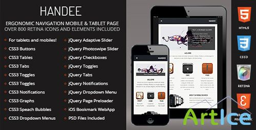 ThemeForest - Handee - Mobile & Tablet Responsive Template - RIP