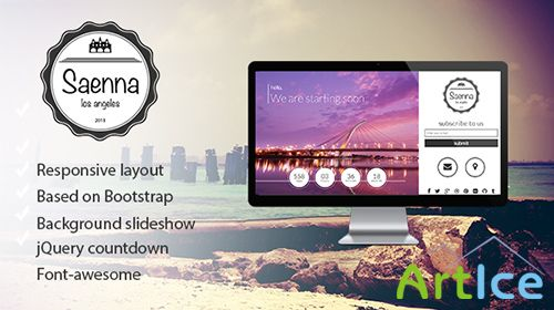 ThemeForest - Saenna - Responsive Coming Soon Template - RIP