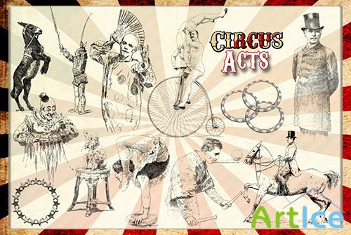 ABR Brushes - Vintage circus 1