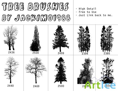 ABR Brushes - Trees Mix