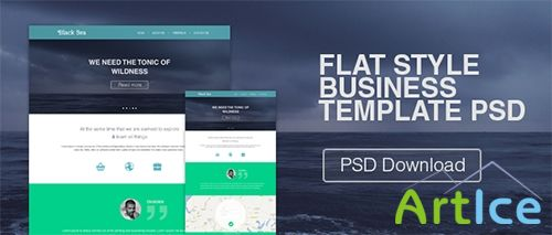 PSD Web Template - Flat Style Business
