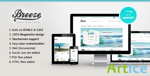 ThemeForest - Breeze - Responsive OpenCart Theme - FULL