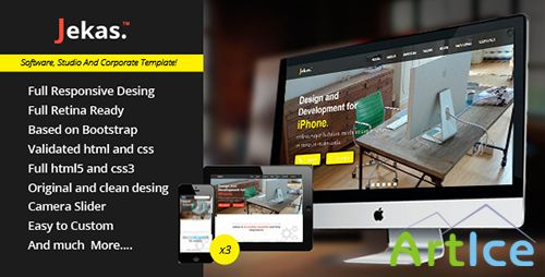 ThemeForest - Jekas - Responsive And Retina Hml5 Template - RIP