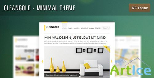 ThemeForest - CleanGold v1.1.3 - Minimal WordPress Theme