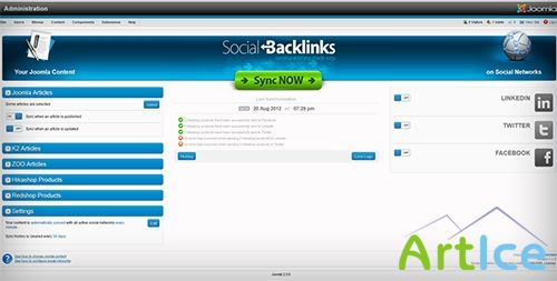 Joomunited - Social Backlinks 1.1.1 for Joomla 2.5