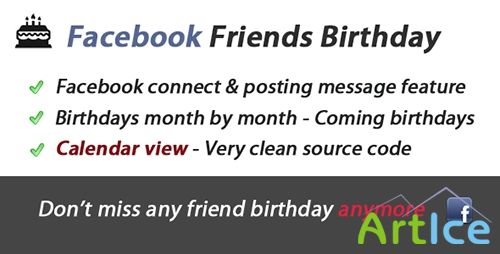 CodeCanyon - Facebook Friends Birthday Awesome App
