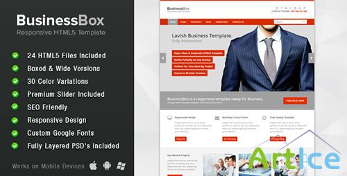 ThemeForest - BusinessBox - Corporate Business Template - RIP