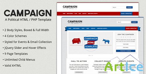 ThemeForest - Campaign v1.2 - Political HTML Template - FULL