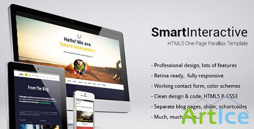 ThemeForest - Smart Interactive - HTML5 one page creative parallax - RIP
