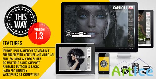 ThemeForest - This Way WP v1.2.0 - Full Video/Image Background with Audio