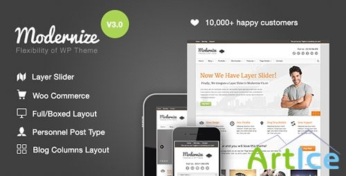 ThemeForest - Modernize v3.11 - Flexibility of Wordpress