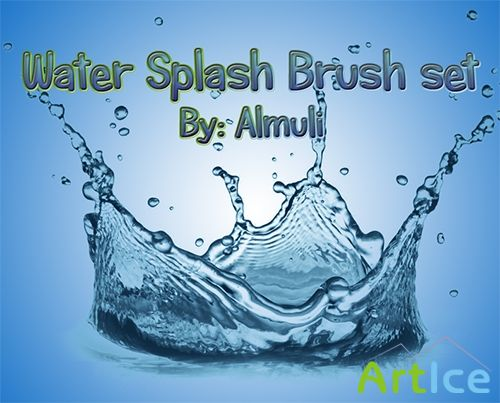ABR Brush Set For Adobe Photoshop - Water Splash