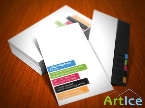5 Colors Business Card