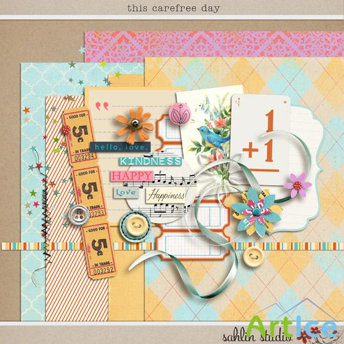 Scrap Set - This Carefree Day PNG and JPG Files