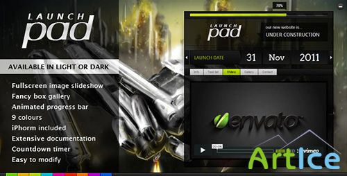 ThemeForest - Launch Pad - Full Screen Image Under Construction - FULL