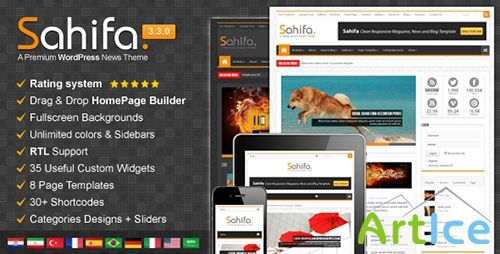 ThemeForest - Sahifa v3.3.0 - Responsive WordPress News, Magazine, Blog
