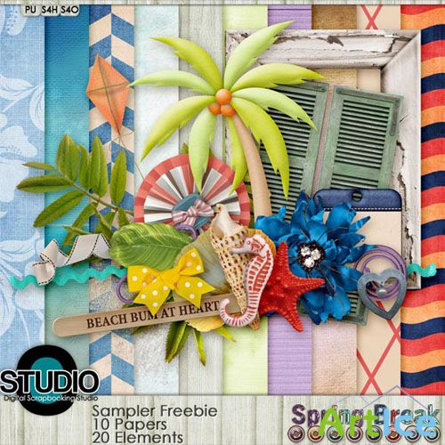 Scrap Set - Spring Break PNG and JPG Files