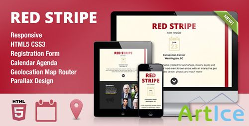 ThemeForest - Red Stripe v1.0 - Responsive Parallax Event Site Template - FULL