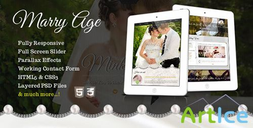ThemeForest - Marry Age - Responsive One Page Wedding Template - RIP