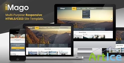 ThemeForest - Imago - Multipurpose Responsive HTML Template - RIP