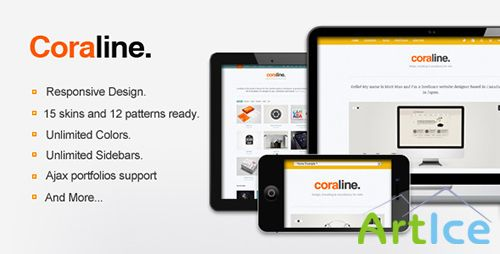 ThemeForest - Coraline v1.8 - Ajax And Responsive WordPress Theme