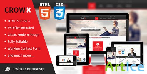 ThemeForest - CrowX - Bootstrap HTML Site - RIP
